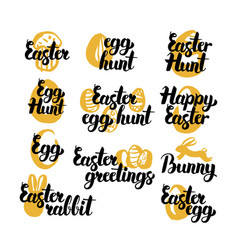 easter holiday hand drawn quotes vector image