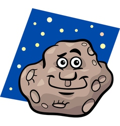Funny asteroid cartoon vector