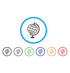 global rounded icon vector image vector image