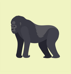 Gorila monkey rare animal cartoon macaque vector