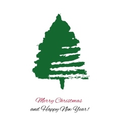 Hand drawn Christmas tree vector image