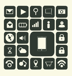 iApplication icons for smartphone and web vector image