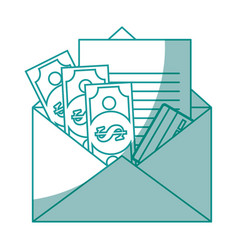 isolated money envelope vector image