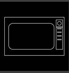 Microwave oven the white path icon vector