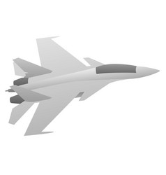 military fighter jet aircraft vector image