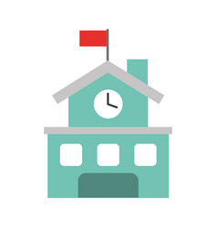 School building isolated icon vector