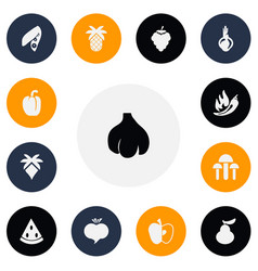 set of 13 editable berry icons includes symbols vector image vector image