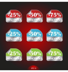 set of colored labels for sale vector image