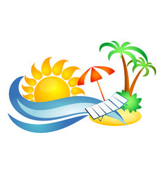 Symbol for travel and recreation vector