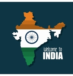 Welcome map india country design vector