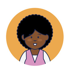 Young african woman avatar character vector