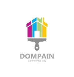 house paint logo template design Creative vector image