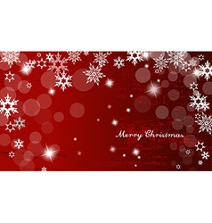Abstract background with snowflakes and merry vector