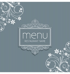 Stylish menu design vector image