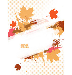 grungy autumn vector image