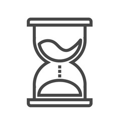 Hourglass thin line icon vector