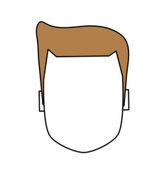 Color silhouette image faceless front view vector
