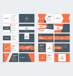 Collection of double-sided business card vector