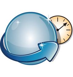globe clock vector image