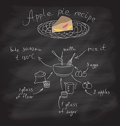 Apple pie with recipe vector