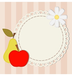 Lace and apple vector