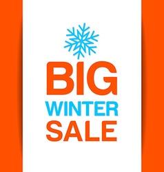 big winter sale template vector image