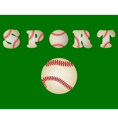 Baseball ball written word sport vector