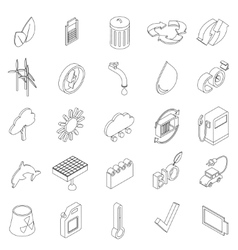 Ecology set icons vector