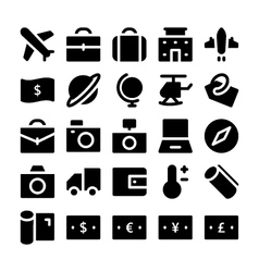 Travel icons 1 vector