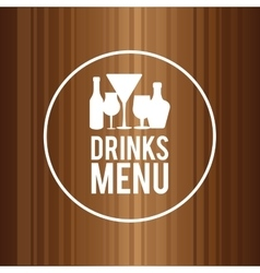 Drink design menu icon flat vector