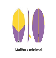 Malibu minimal surfboard desk vector