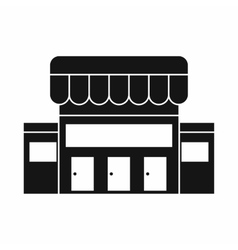 Supermarket building icon simple style vector