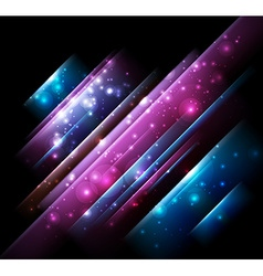 Abstract design with neon lines vector