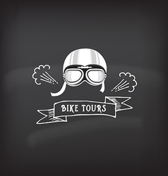 Bike tour design concept vector