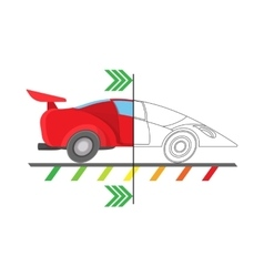 Car diagnostics icon cartoon style vector