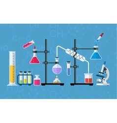 Chemical glassware laboratory vector