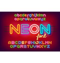 Color neon font 2 01 vector