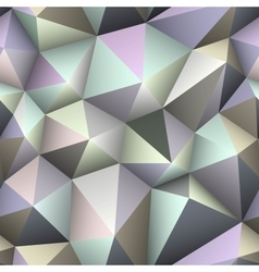 Colorful triangle seamless low-poly background vector image vector image