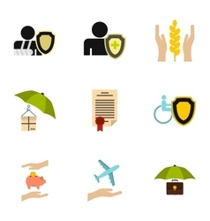 Confidence icons set flat style vector