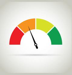 credit score gauge vector image
