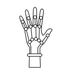 Cyber glove for virtual reality innovative digital vector