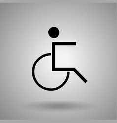 Disabled person iconman on wheelchair symbol vector