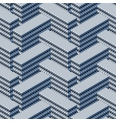 Endless array of tower blocks Abstract seamless vector image