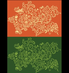 Floral abstract decorative seasonal pattern flower vector image vector image