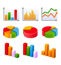 Infographic set with colorful charts and diagram vector image vector image