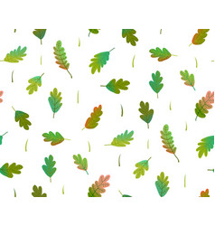Leaves colorful seamless pattern watercolor style vector
