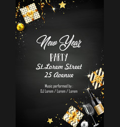 New year party design template with elements vector