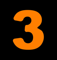 Number 3 sign design template element orange icon vector