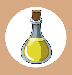 Oil bottle healthy fresh image vector