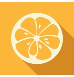 Orange stylish icon juicy fruit logo vector